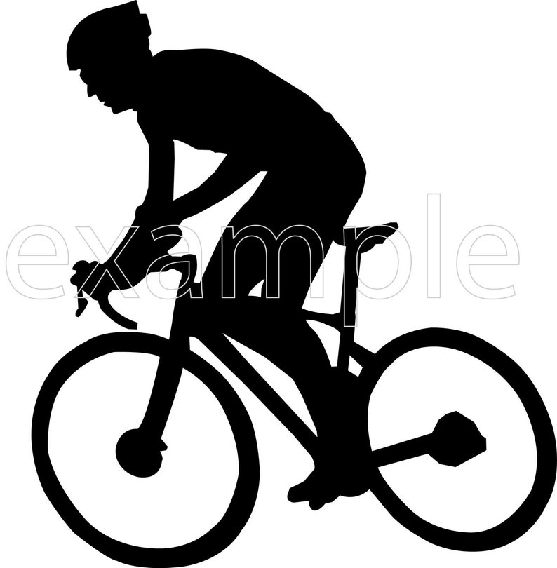 Bicycle Svg Cyclist Svg Cyclist Clipart Bicycle Cut Files