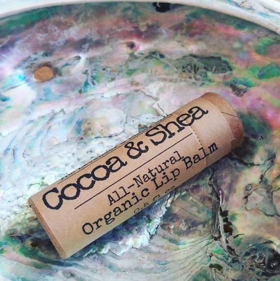 Organic Shea Butter Cocoa Butter Coconut Oil Lip Balm 0 5 oz