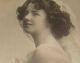 SALE Vintage RPPC, Pretty Lady