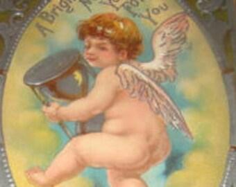 SALE Nice Vintage New Years Postcard