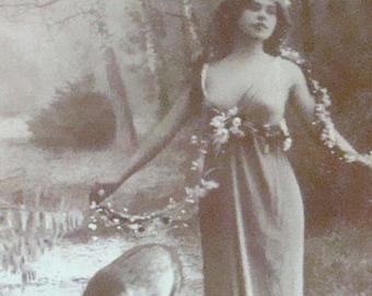 SALE Vintage RPPC, Glamour, Fantasy Postcard