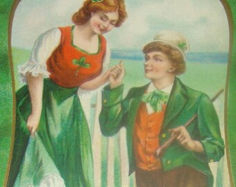 Nice Vintage/Antique St Patricks Holiday Postcard