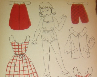 Vintage 1930's/40's Paper Doll (Cathy)