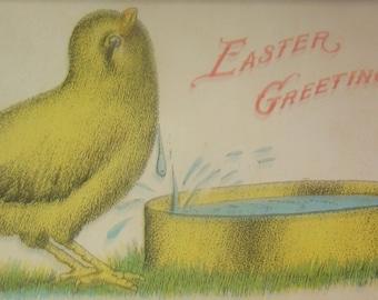 Vintage/Antique Advertising Easter Postcard Art Manufacturing Company, Amelia, Ohio
