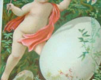 LAST CHANCE SALE Victorian Scrap (Child with an Egg) #2