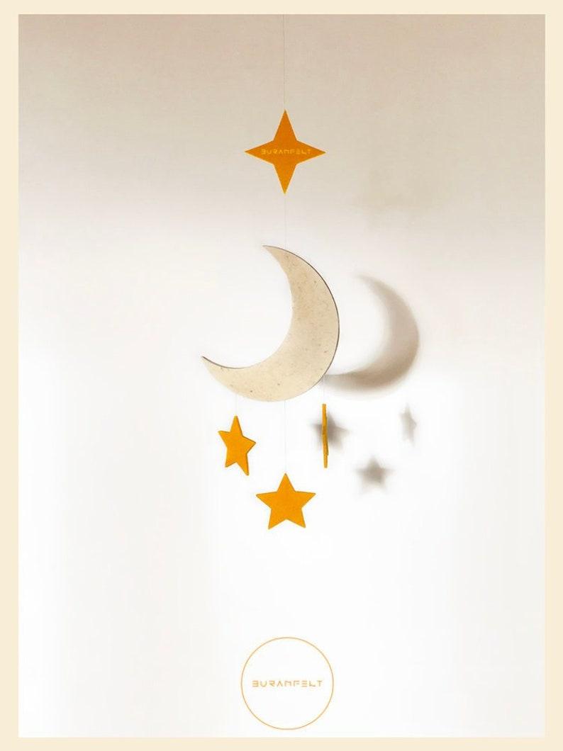Baby Mobile Felt Baby Mobile Baby Boy Mobile Moon Decor No. 1 - Moon & Stars