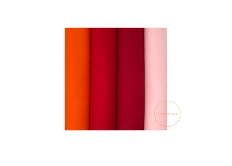 9d820f7f7534e9 Filzplatten 100% Wolle Orange 1.5mm Rot Filz DIY 20x30cm