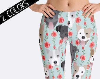 Pitbull Leggings, Pit Bull Leggings, Dog Leggings, Pitbull Clothing, Ladies Leggings, Capri Leggings, Print Leggings, Womens Leggings