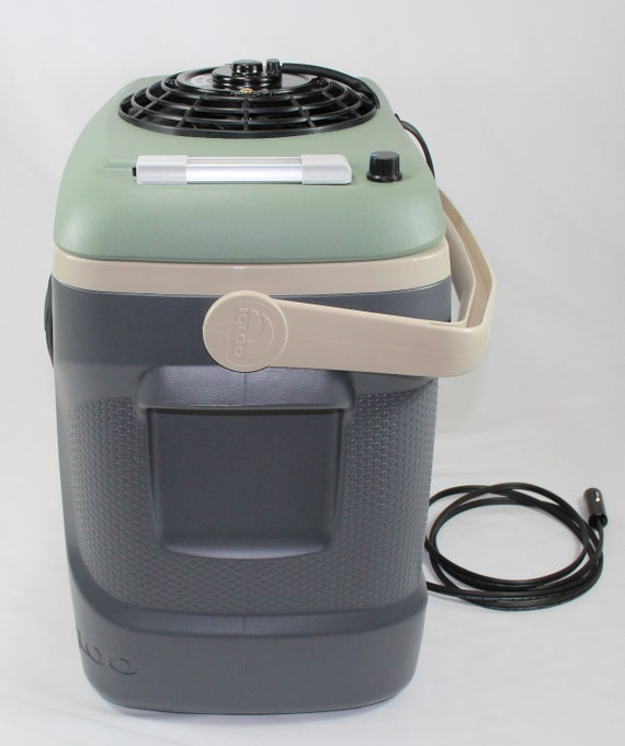 12 Volt Air Conditioner For Car >> 12v Portable Air Conditioner Cooler 30 Quart 560 Cfm Digital Multi Speed Fan 12 Volt Car Truck House Etc Green Gray Beige