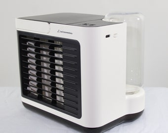 Battery Operated  Mini Portable Air Conditioner Multi Speed Fan, Built In Rechargeable Battery - USB