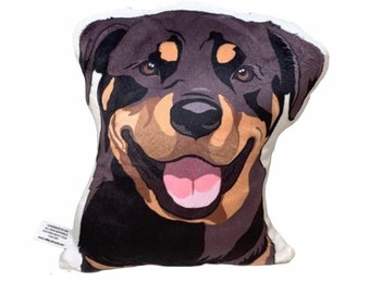 Fianc\u00e9 Gift Dog Lover Gift Stuffed Dog Pillow Gift for Him Cute Dog Pillow Rottweiler Pillow Housewarming Gift Husband Gift