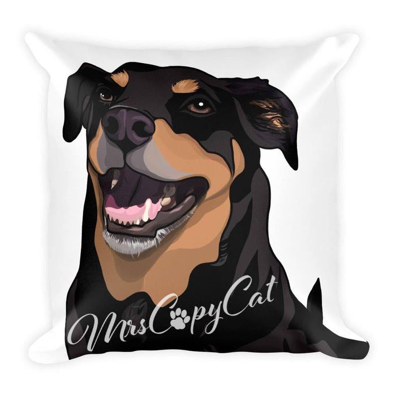 Rottweiler Dog Pillow Pet Mom Gift Idea