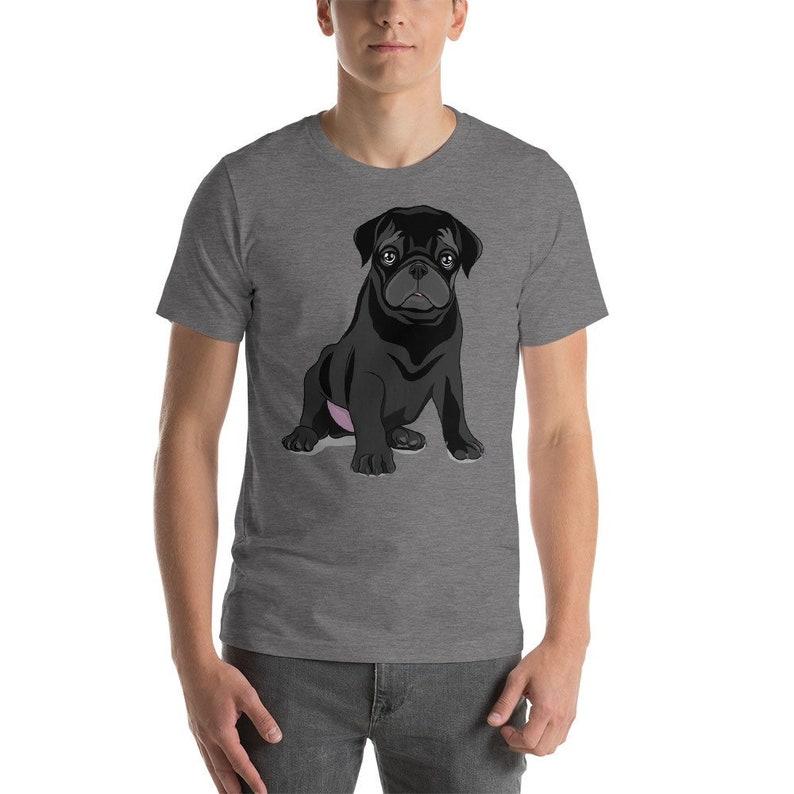8618849ea Black Pug T-Shirt Funny Dog Shirt Dog Fathers Day Gift Puggle | Etsy