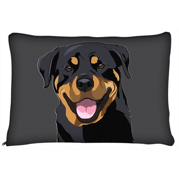 Rottweiler Dog Bed Rottie Lover Personalized Dog Bed Dog Name Etsy