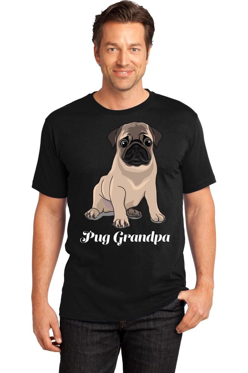 f8dac17be Pug Dad T-Shirt Pug Grandpa T-Shirt Funny Dog Shirt Dog | Etsy