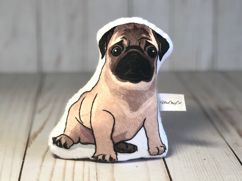 33721834eb5f Mops Baby Rassel Spielzeug für Baby Hund Baby Rassel Hund