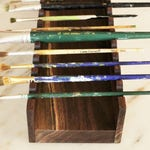 Wooden Paintbrush Holder/Paintbrush Caddie/Wood Paintbrush Holder/Paintbrush Organizer/Horizontal Paintbrush Holder/Gifts for Painters/Eco