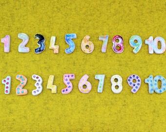 Number Magnets/Ceramic Number Magnet Set/1-10 Number Magnet Set/Refrigerator Number Magnets/Colorful Number Set/Child's Number Learning Set