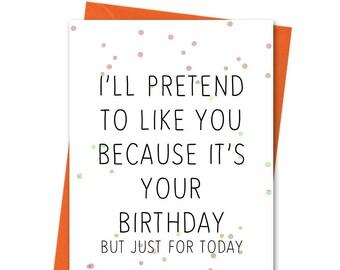 Personalised Funny Birthday Card Rude Birthday CardNaughty