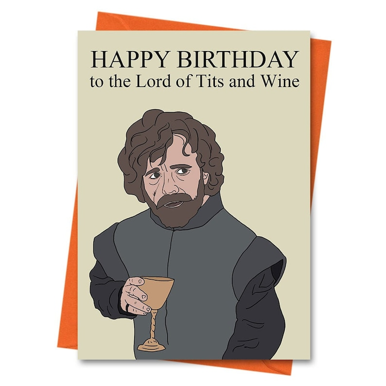 Personalised GAME OF THRONES LANNISTER birthday greeting card //rude//funny//card