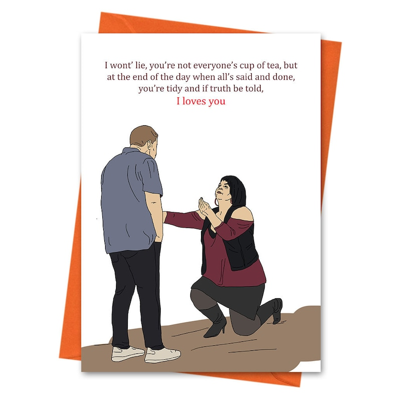 Nessa Love Card Gavin and Stacey Card Truth Be Told I Loves image 0