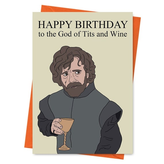 Funny Birthday Card Game Of Thrones Tyrion Lannister
