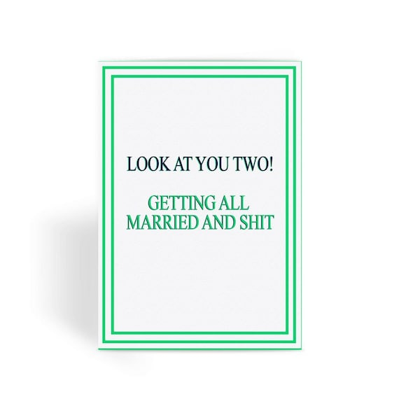Funny Wedding Card, Funny engagement card, Funny marriage card, Card For  Wedding, Congratulations, - Getting Married Greeting Card