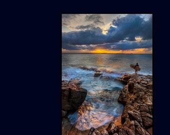 Beach Photography Print, Gift for Surfer,  Nautical Print, Beach Gift