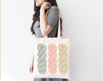 Three Pretty Yarn Hanks Crochet Knit Yarn SVG & PNG Cut File
