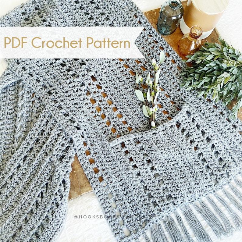 Cozy Fireside Wrap  Pocket Wrap  PDF Pattern Easy Crochet image 0