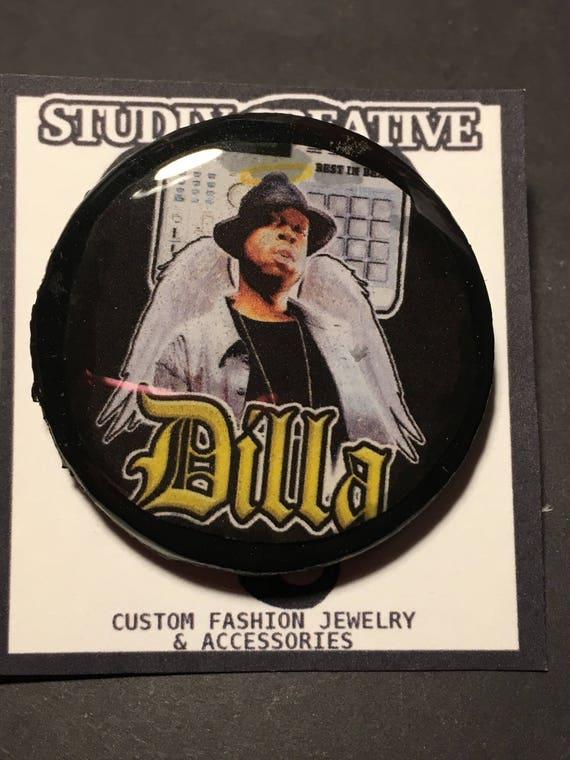 Dilla pin back / j dilla / pin / resin