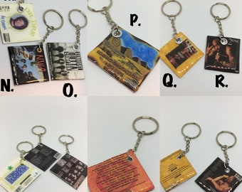 Cd/ Record Album Keychains