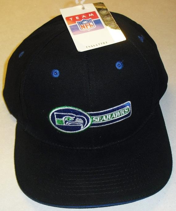 SEATTLE SEAHAWKS (All Black) Vintage Snapback hat