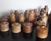 Victorian Bottles, 1800s Stoneware Ink Bottles, Mini Vase Antique, Home Decor
