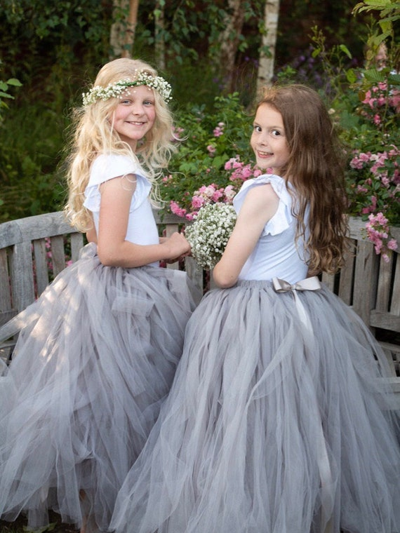 Silver Blue Tutu Bridesmaid Tutu Navy Tutu Flower Girl Tutu Girls Tutu Wedding Tutu Adult Tutu Flower Girl Dress Tulle