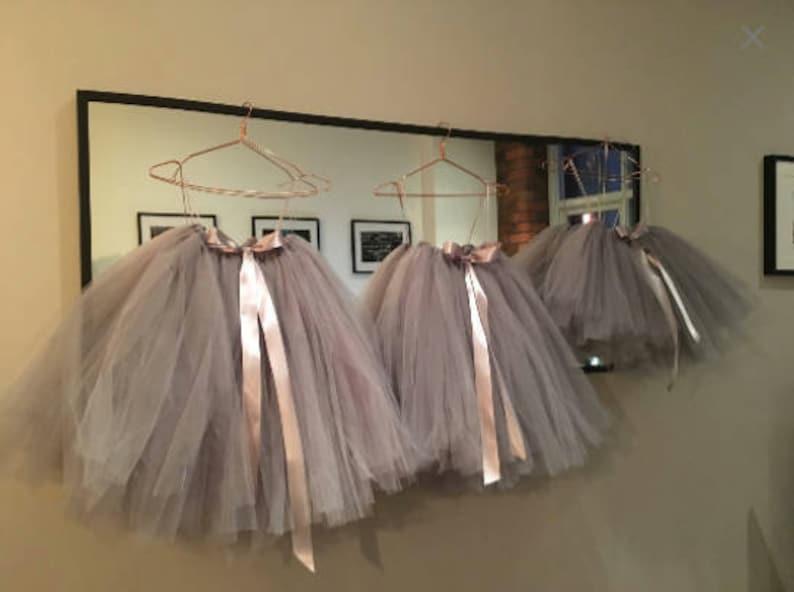 Tutu Girls Tutu Flower Girl Tutu Ballet Tutu Bridesmaid Silver Grey