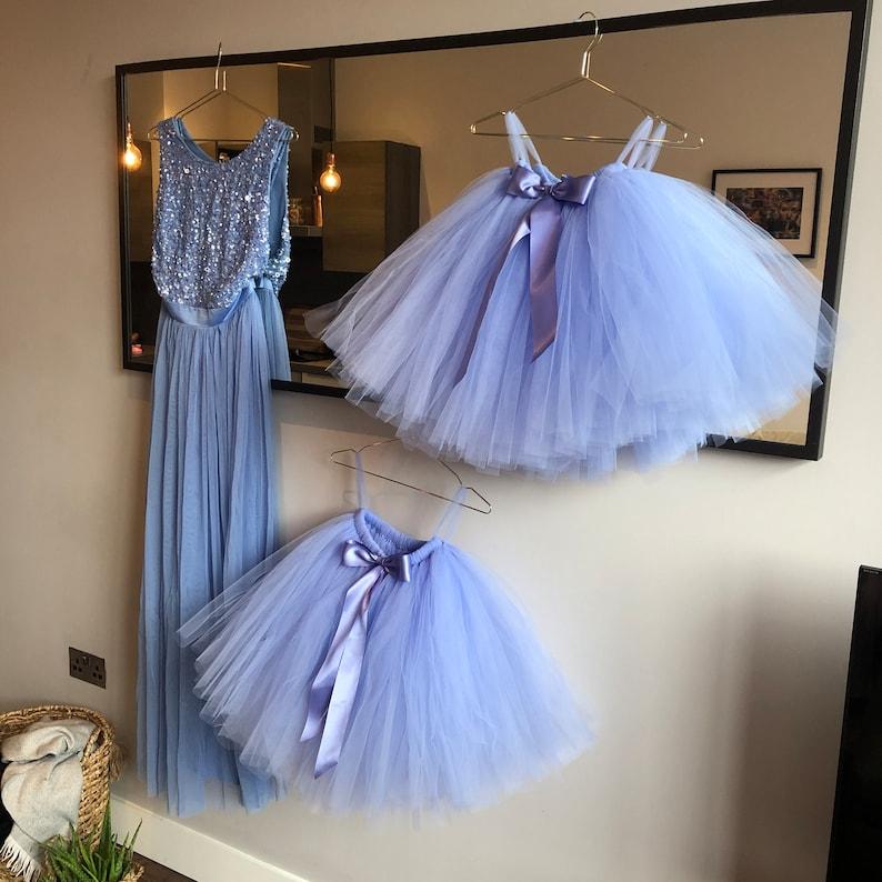Periwinkle Tutu Flower Girl Dress Long Blue Tutu Wedding Tutu Flower Girl Tutu Girls Tutu Adult Tutu Bridesmaid Tutu