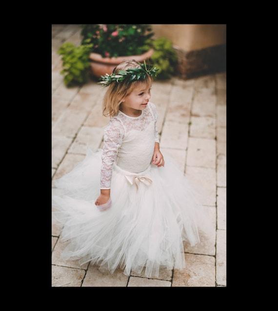 Long Ivory Tutu, Flower Girl Dress, Flower Girl Tutu, Ivory Tutu, Girls Tutu, Bridesmaid Tutu, Adult Tutu, Wedding Tutu