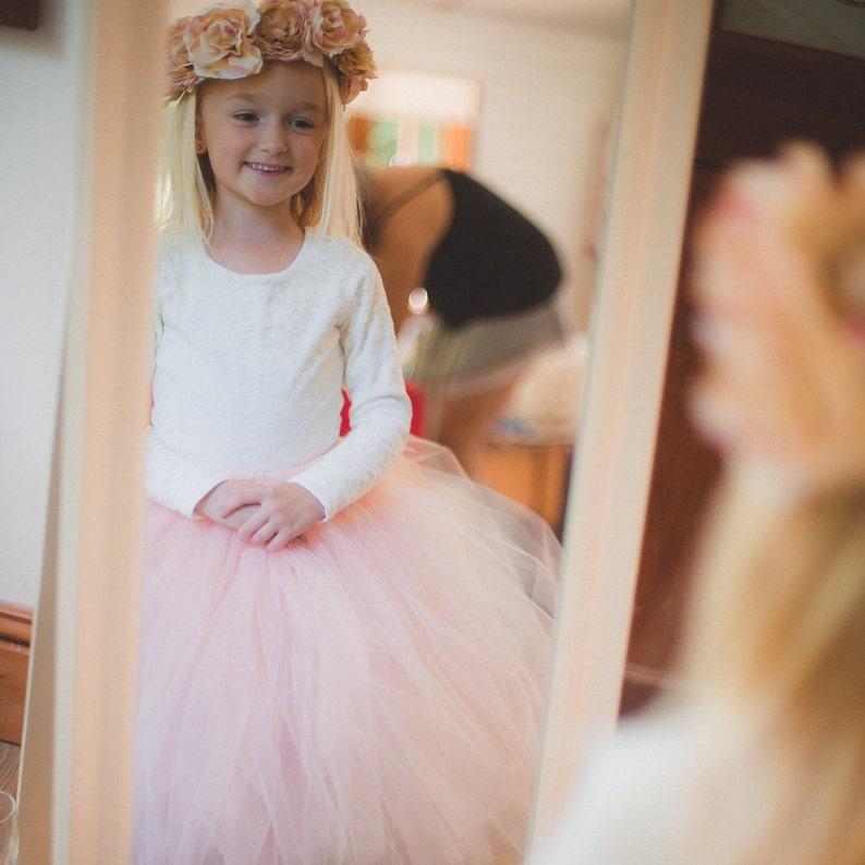 Long Blush Tutu, tutu, girls tutu, flower girl tutu, flower girl dress, bridesmaid tutu, adult tutu, wedding tutu, pink tutu