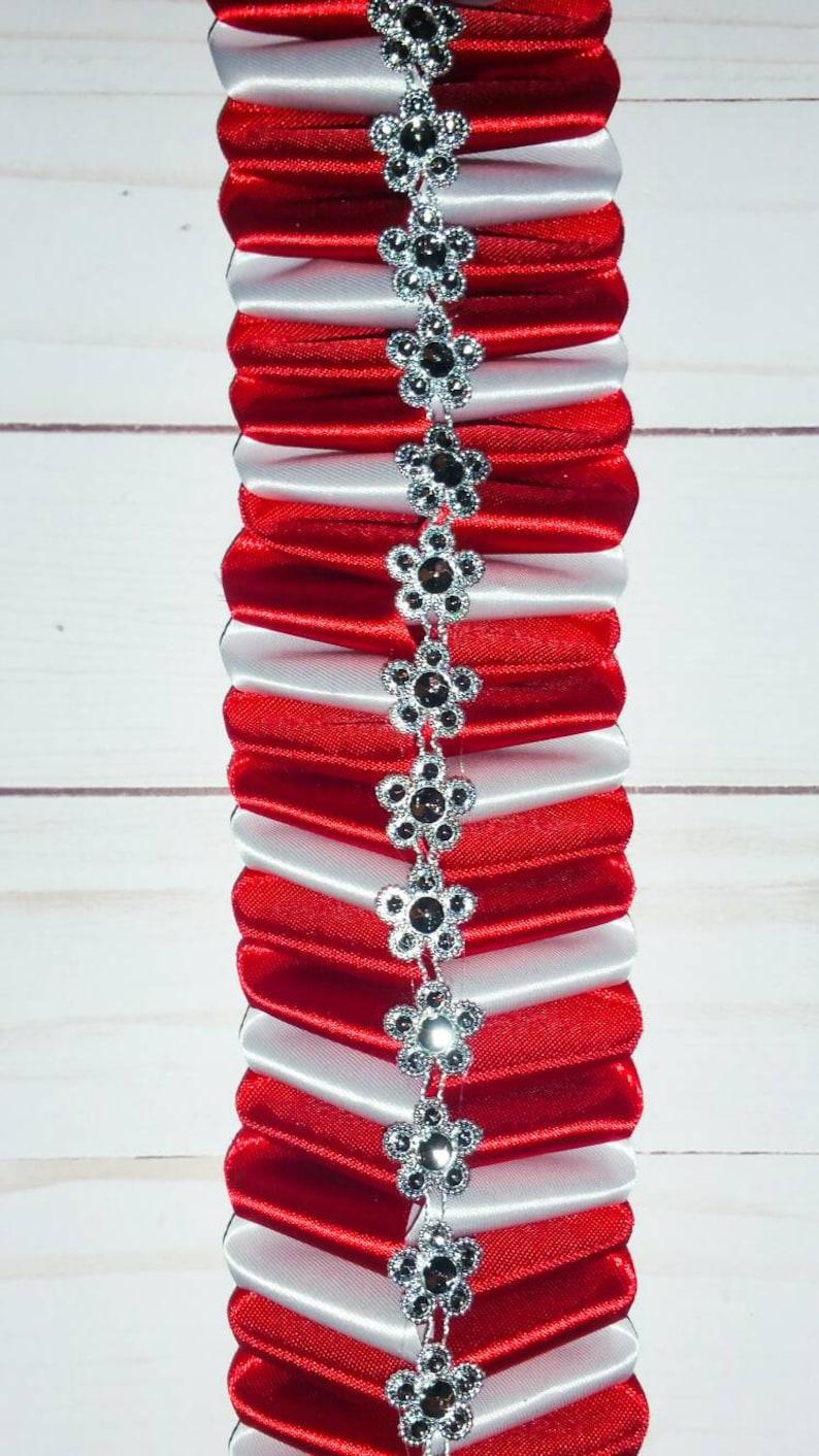 #9 Ribbon 36 Homecoming Mum Diamond Braid