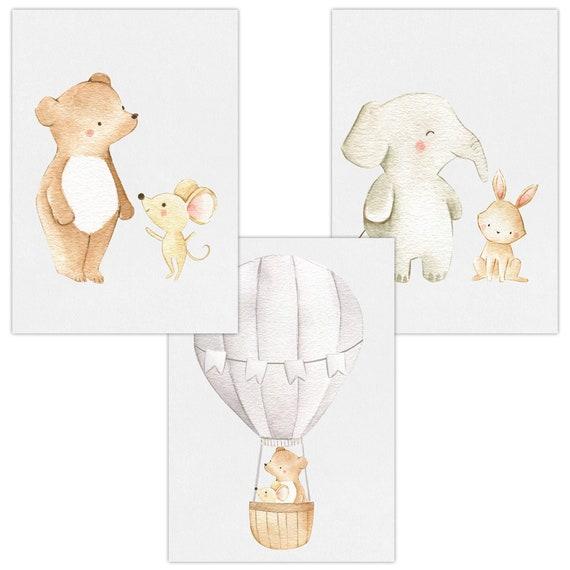 3er Set Wandbilder Baby Kinderzimmer Poster A4 W03 Phantasy ...