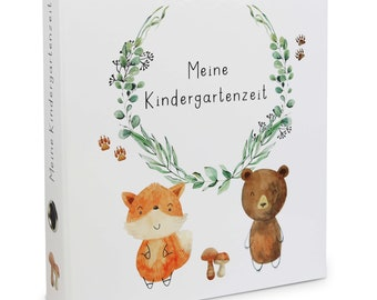 """Collective folder """"My kindergarten time"""" with handle hole A4, space for 350 sheets, fox & bear   Reminder Folder, Olgs Folder"""