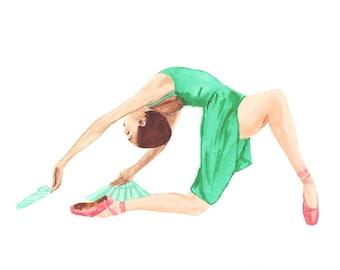 Ballet Dancer Dressed in Green
