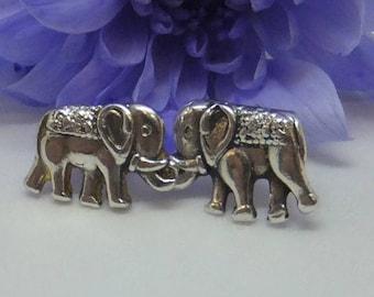 elephant earrings, elephant jewelry, animal jewelry, dainty earrings, nature jewelry, sterling silver, silver stud earrings, gift for her