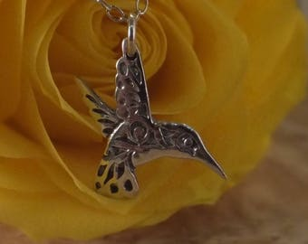 Hummingbird necklace, maori necklace, delicate necklace, mothers day, gift for mum, sterling silver, handmade, jewellery, tribal jewellery