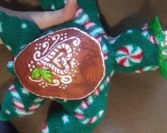 Peppermint ginger fantasy Christmas seaturtle artdoll