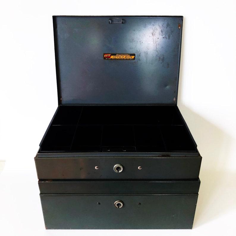 Vintage Pair Asco Steelmaster Office Boxes~Cash Box and Storage/Document  Box With Key~For Garage Sale~Farmer's Market~Flea Market~Craft Fair