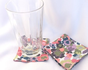 Floral Bohemian Coasters, Set of 4