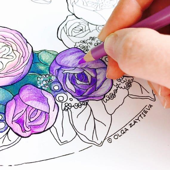 blumen rosen ausmalbilder fur erwachsene