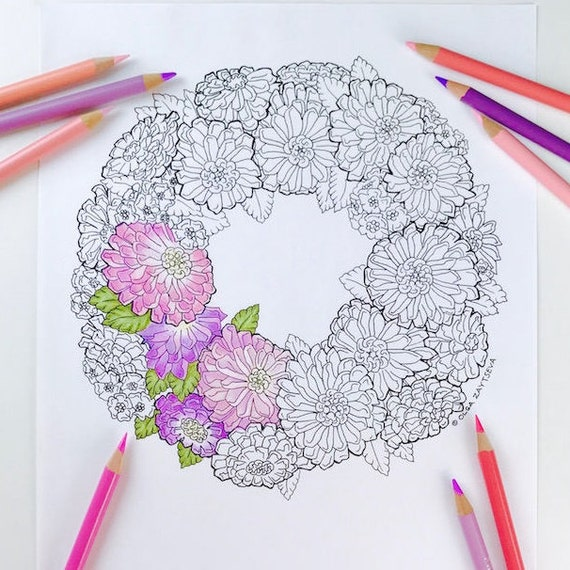 Hand drawn flower patterns for coloring pages — Stock Vector ... | 570x570